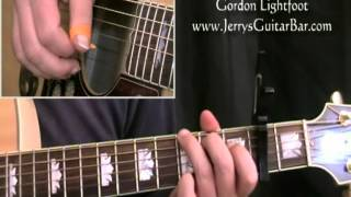 How To Play Gordon Lightfoot Song For a Winter's Night (full lesson)