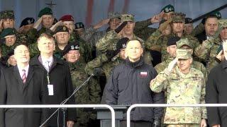 Prezydent Andrzej Duda powitał Grupę Bojową NATO