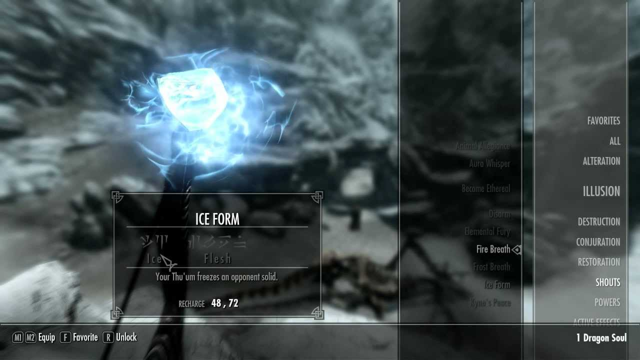 Skyrim Shout Locations Ep. 11- Ice Form (First Word) - YouTube