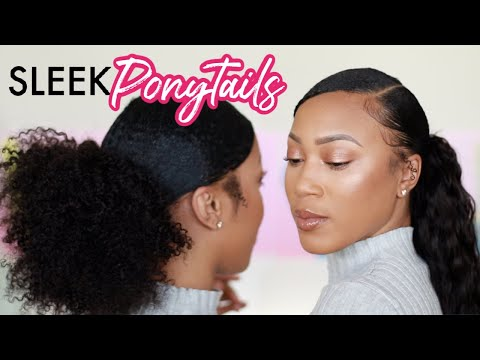 sleek-ponytail-on-natural-hair-w/-weave