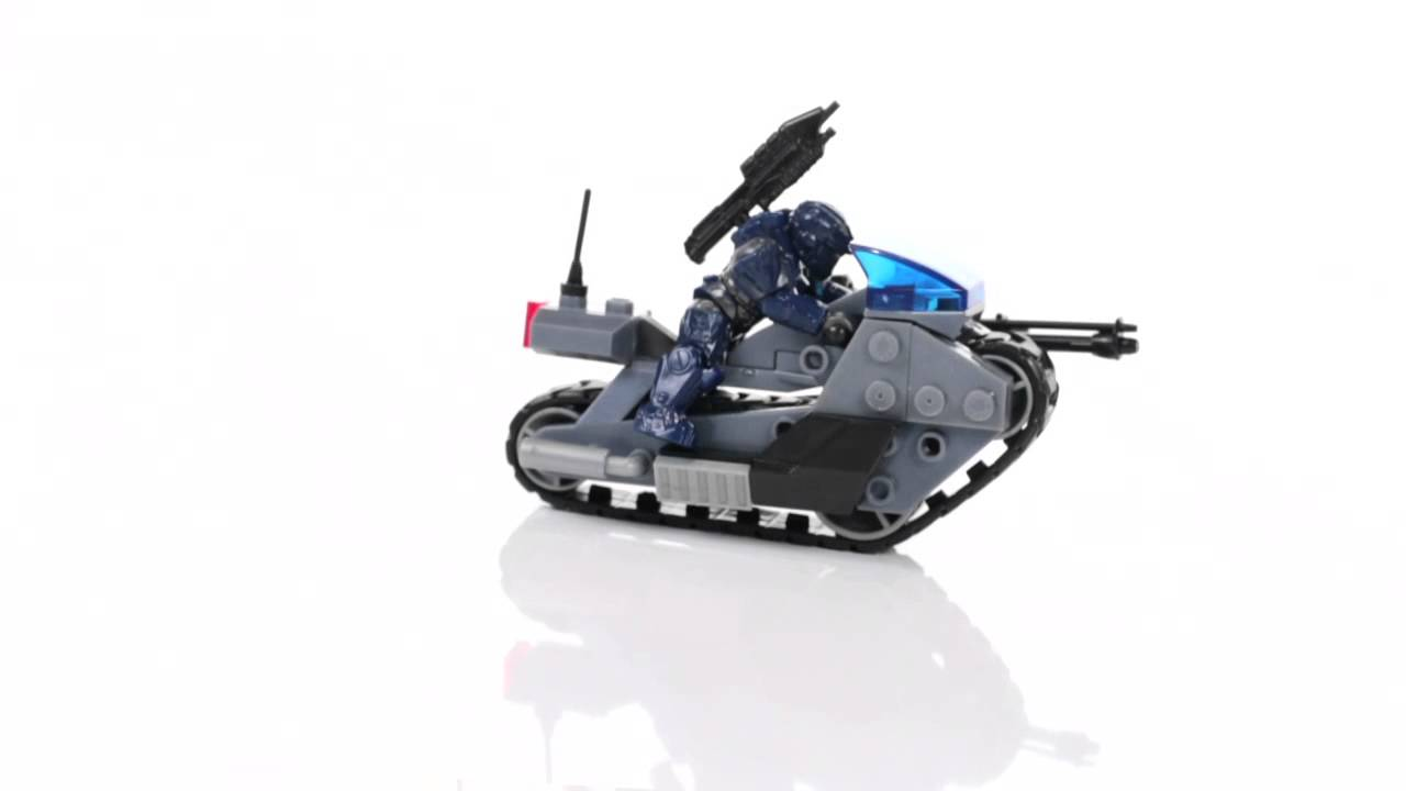 Halo Mega Bloks Set 97116 Unsc Siege Bike Youtube