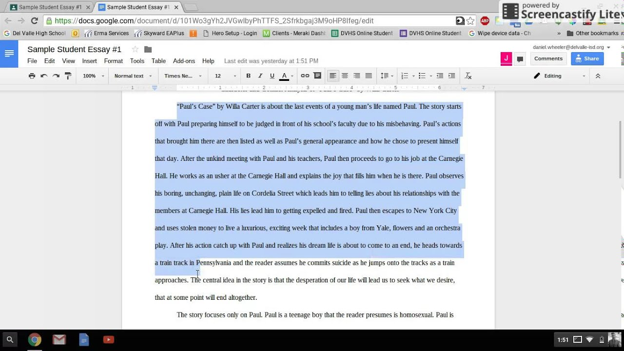 learning from sample essays central idea character and  learning from sample essays central idea character and conflict for essay 1