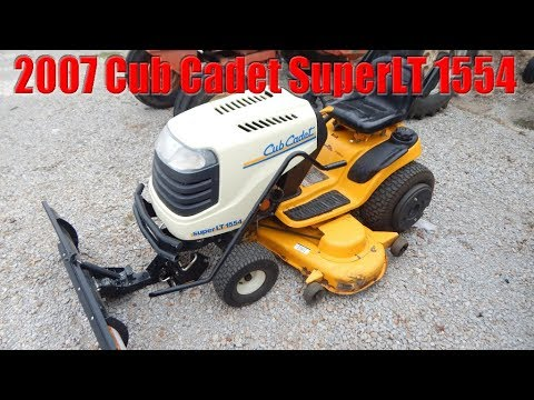 Sold Cub Cadet Super Lt Lawn Tractor