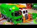 Garbage Truck Videos for Children: Green Kawo Toy UNBOXING - Jack Jack Playing with Lego Trash