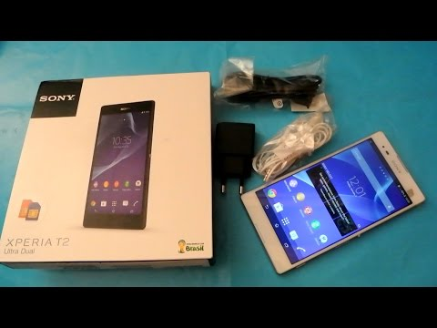 Sony Xperia T2 Ultra White Dual SIM Unboxing HD