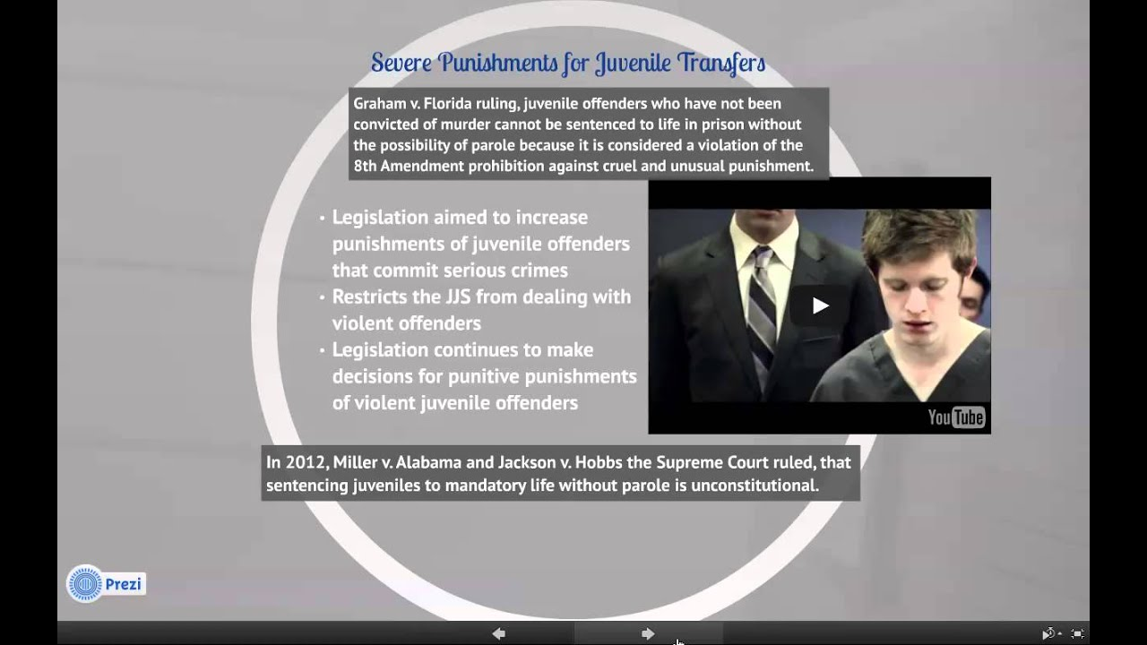 juvenile life without parole cruel or Graham v florida (2010) in 2010, the supreme court ruled in the case of graham v florida that sentencing a juvenile to life without the possibility of parole for a non-homicidal crime is in.