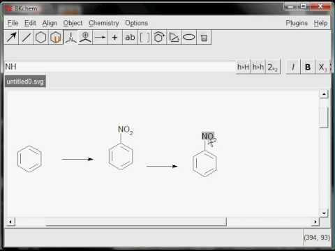 Drawing an organic reaction