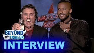 American Gods Interview - Ian McShane as Mr Wednesday & Ricky Whittle as Shadow Moon