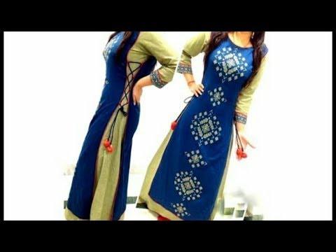 Side loops and Dori designer kurta cutting and stitching