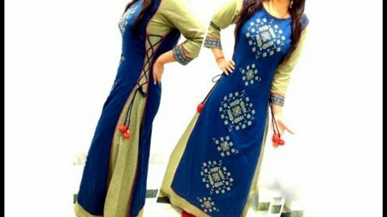 Side loops and Dori designer kurta cutting and stitching ...