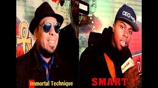 IMMORTAL TECHNIQUE, SMART & SANETER Freestyle On Blacknews102