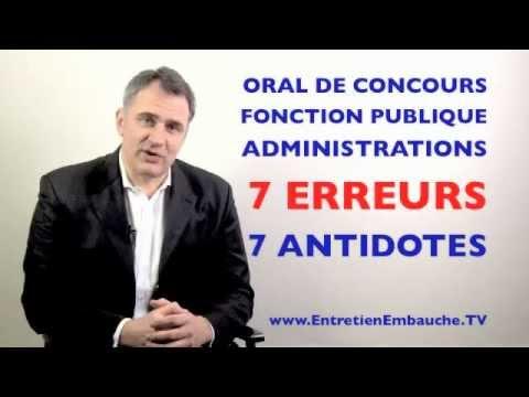 Oral de concours administratifs fonction publique les 7 erreurs solutions youtube - Bureau des concours aphp ...