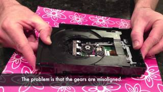 xbox 360 slim repair - Disc drive tray stuck