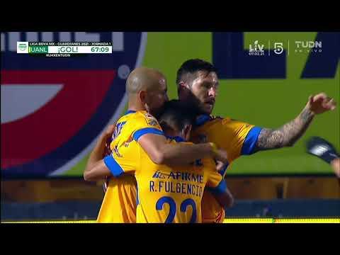 Gol de C. González | Tigres 2 - 0 León | Liga BBVA MX - Guard1anes 2021 - Jornada 1