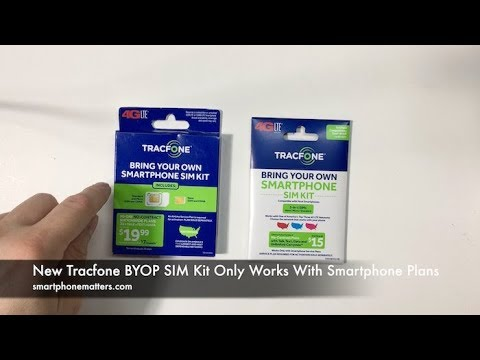 New Tracfone BYOP SIM Kit Only Works With Smartphone Plans