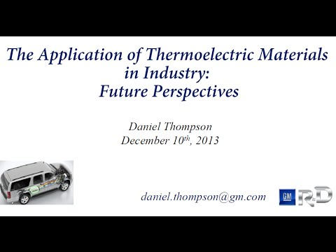 The Application of Thermoelectric Materials in Industry