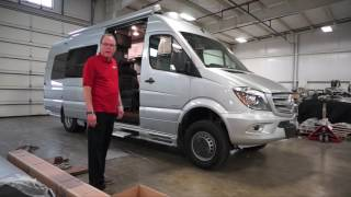 Avion Azur Mercedes Sprinter Class B Motorhome 4x4 chassis(The RV Factory manufacturer of the Avion Azur Mercedes Sprinter Class B Motorhome introduces their first 4x4 chassis., 2016-08-03T18:09:05.000Z)