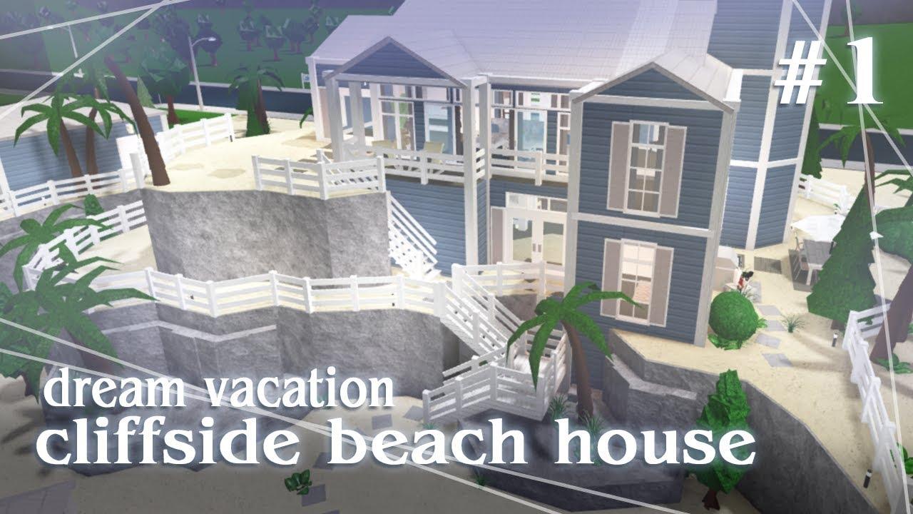 Cliffside Beach House Bloxburg Speed Build Part 1 2 Youtube