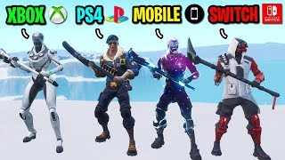 We created the RAREST Fortnite Console skin squad and THIS happened... (MOST EXPENSIVE SKINS!)