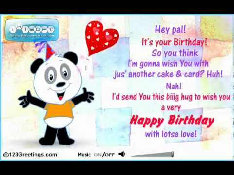 Animated Happy Birthday Greeting Cards Free Animated Birthday – Free Animated Happy Birthday Cards
