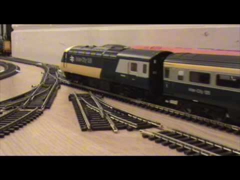 Hornby class 43 HST Inter-City 125 pulls out...