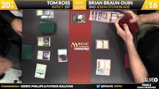 Grand Prix New Jersey 2014 Finals: Brian Braun-Duin (Jeskai Stoneblade) vs. Tom Ross (Infect)