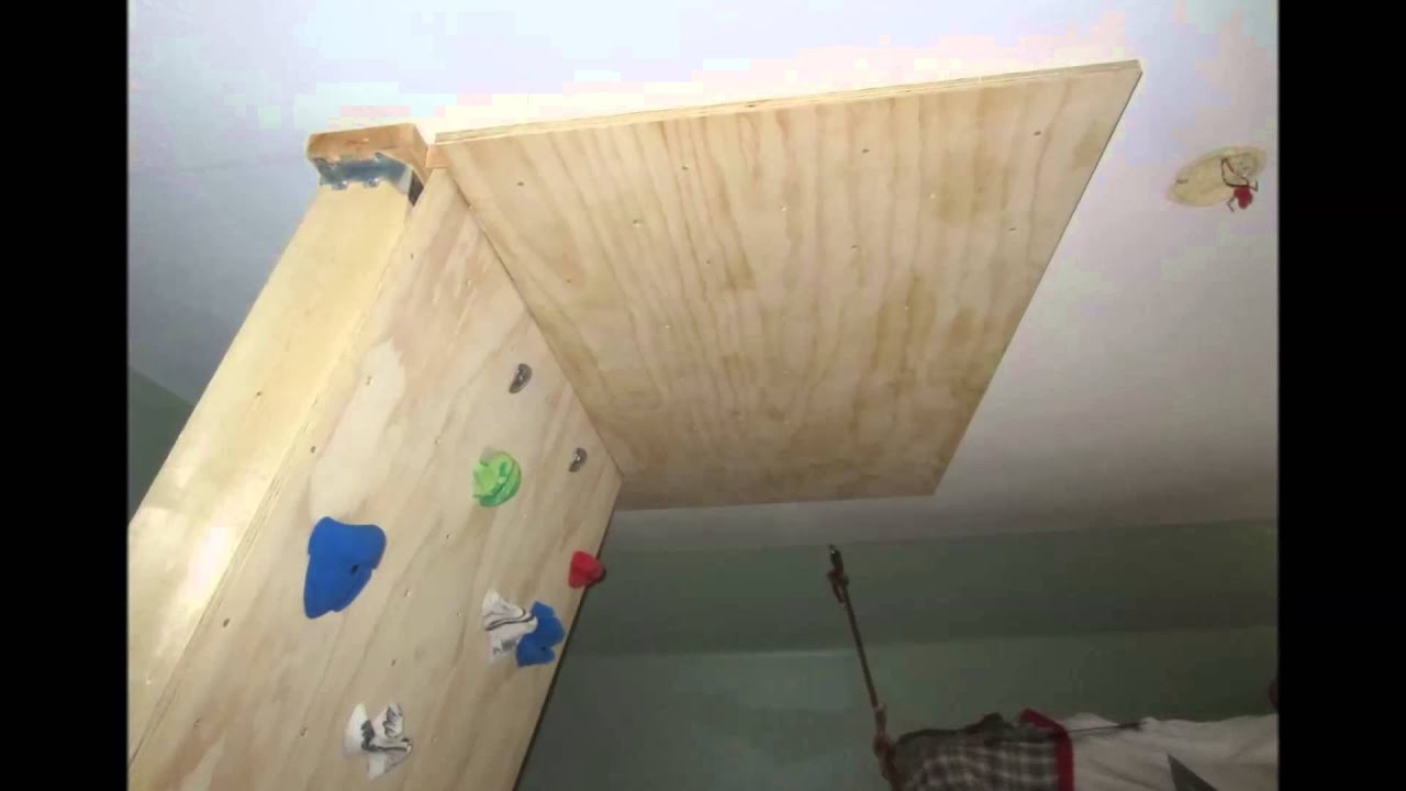 DIY Home Bouldering Wall YouTube