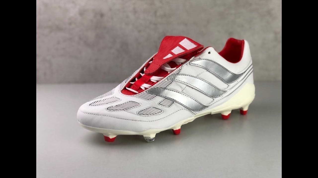 Adidas Predator Precision FG David Beckham 'WhiteSilverRed' | UNBOXING & ON FEET | football shoes