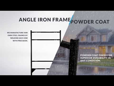 Real Estate Signs | Angle Iron Frames - YouTube