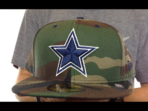 Cowboys 'NFL CAMO-POP' 2 Army-Navy Fitted Hat by New Era
