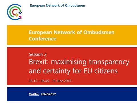 European Network of Ombudsmen Conference 2017 - Session 2 and concluding keynote speech