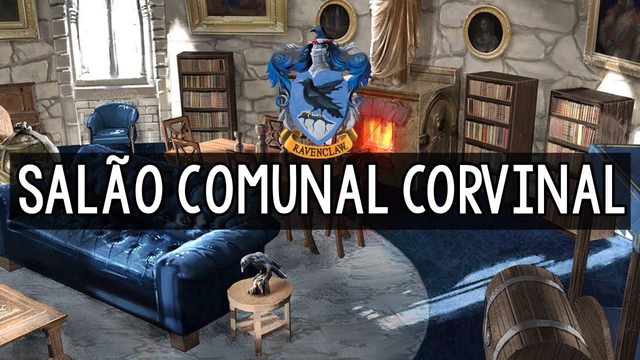 Sal 195 O Comunal Corvinal Lugares Em Hogwarts Youtube