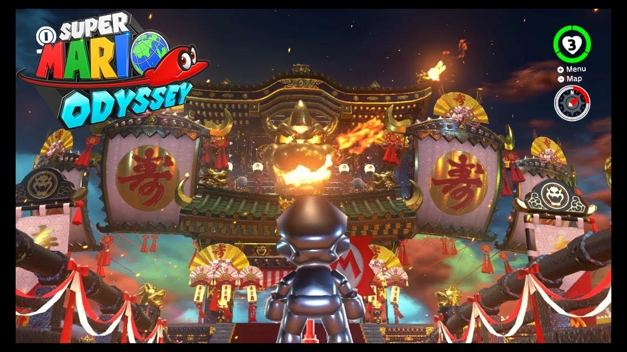Super Mario Odyssey Bowser S Kingdom Bowser S Castle Tour Youtube