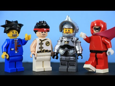 How to Build LEGO Ryu (Street Fighter), Phoenix Wright, Arthur (Ghosts 'n Goblins), & Viewtiful Joe