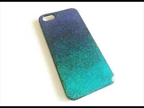 Ombré Glitter Black Phone Case DIY