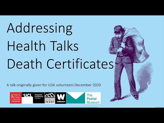 U3A Our 1901 Postal Pensioners SLP talk: Death Certificates
