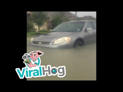 Massive Flooding In Humble, Texas