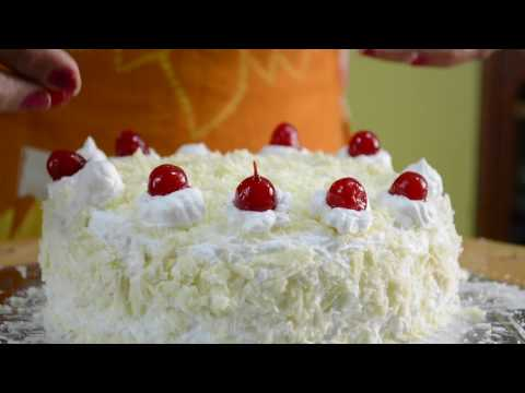 White Forest Cake Recipe | Complete Cake Baking And Cake Decorating Video
