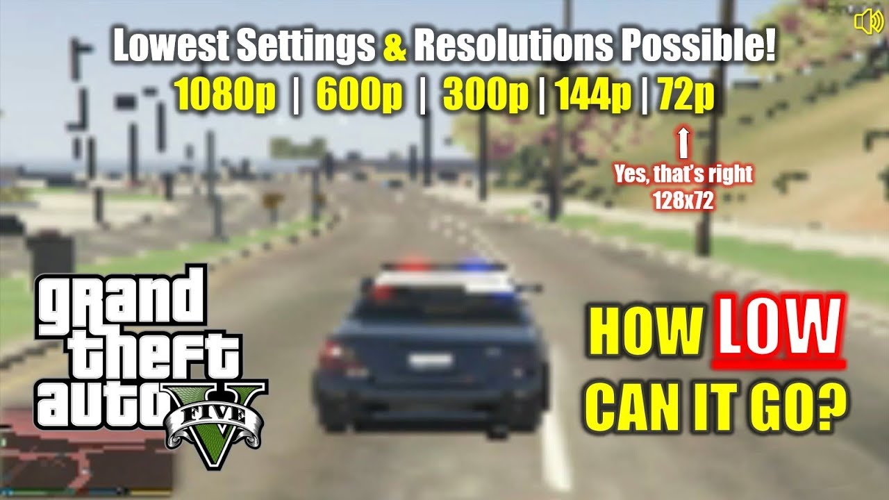 Download GTA 5   How Low Can it Go?! 🥔 Lowest Settings and Resolutions Tested!