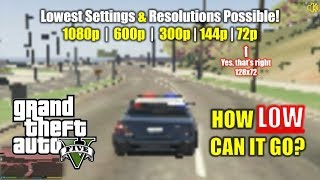 GTA 5 | How Low Can it Go?! 🥔 Lowest Settings and Resolutions Tested!