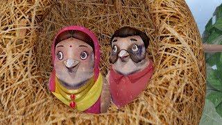 The Foolish Sparrow and the Monkey | Telugu Kid Stories | Infobells