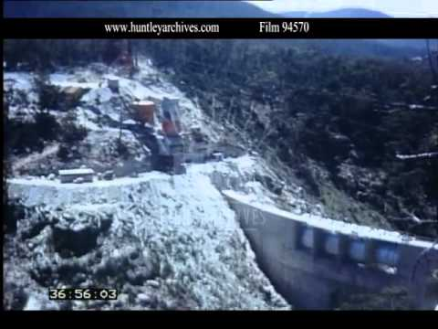 Hydro-electric Dam Snowy Mountains Australia, 1960s - Film 94570