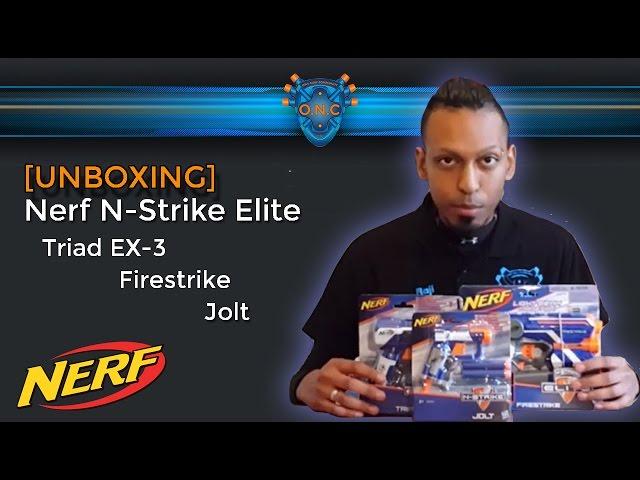 Nerf N-Strike Elite Paket Firestrike Triad EX-3 Jolt [UNBOXING] (deutsch/german)