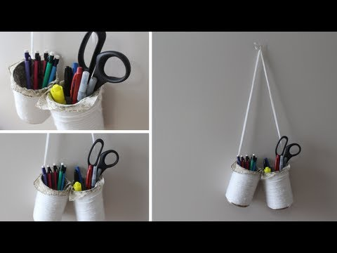 DIY School Supply Organizer + Space Saver