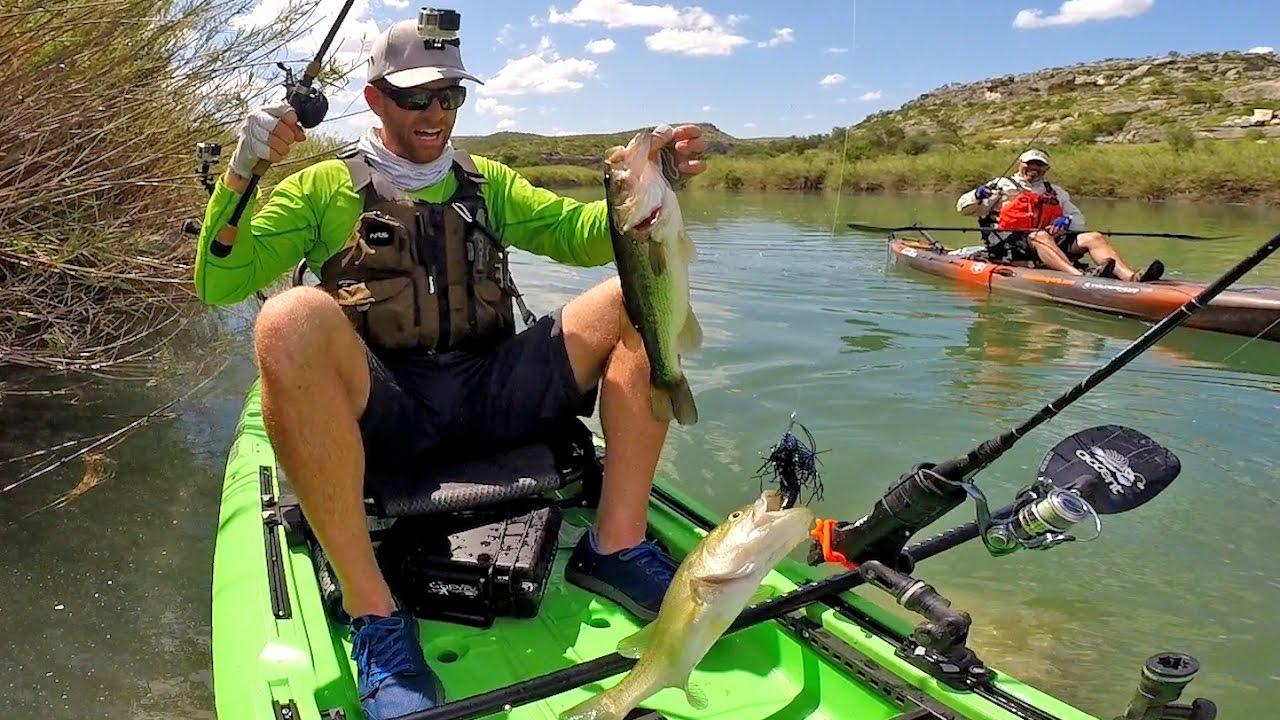 Kayak fishing surviving the pecos river part 3 youtube for Pecos river fishing