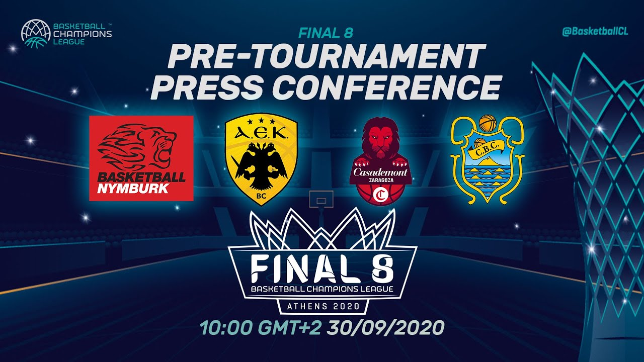 Pre-Tournament Press Conference I Wednesday - Final 8 2020 - Basketball Champions League 2019
