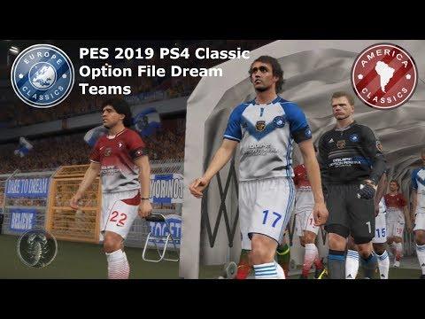 PES 2019 (PS4) Europe Classics Vs America Classics - Legends Option
