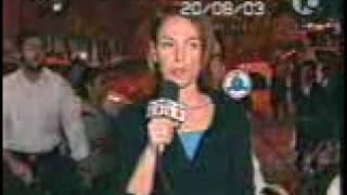 News reporter gets beaten by a crazy man