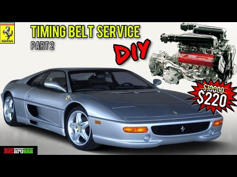 Ferrari 355 Timing Cam Belt Service Step By Step Guide PT2 – DIY Major For Less than 1hr Labour Cost