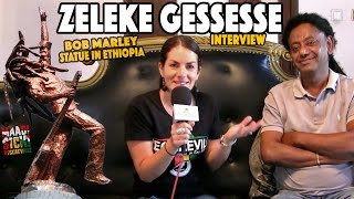Interview with Zeleke Gessesse One of The Sponsers Who Contributed The Bob Marley Statue In Addis Ab